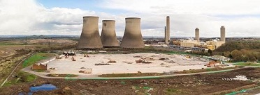 Worksite at Didcot with power plant in background