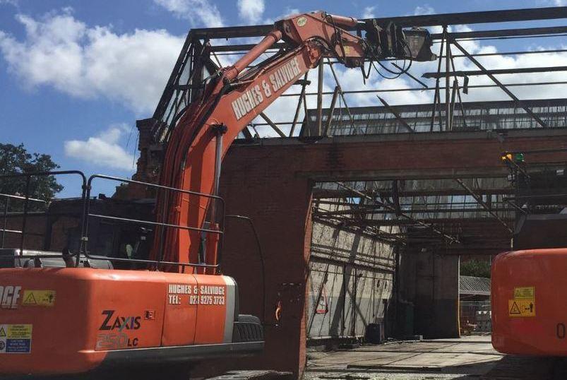 Demolition At Winchester Bus Station Hughes and Salvidge machine