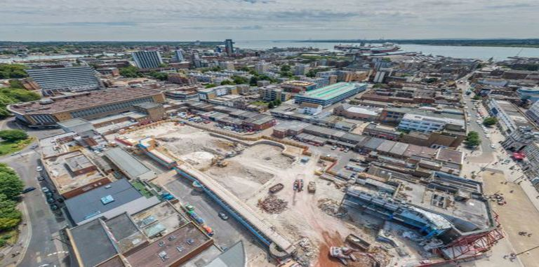 Bargate Shopping Centre Demolition - Arial photo