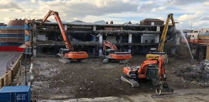 Bargate Shopping Centre demolition Southampton