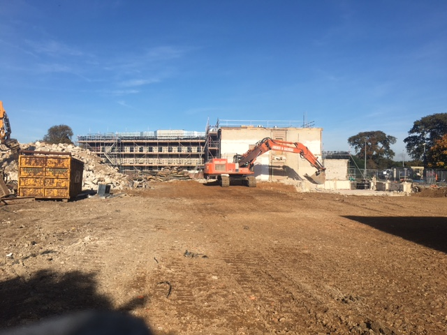 Demolition works to former NATS site, Bournemouth Airport