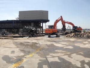 Pier 1 demolition works, London Gatwick Airport