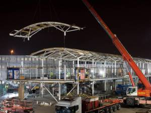 Nightime Heathrow Airport Demolition