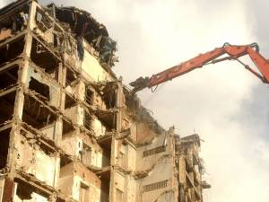 Heathrow Airport Demolition of building