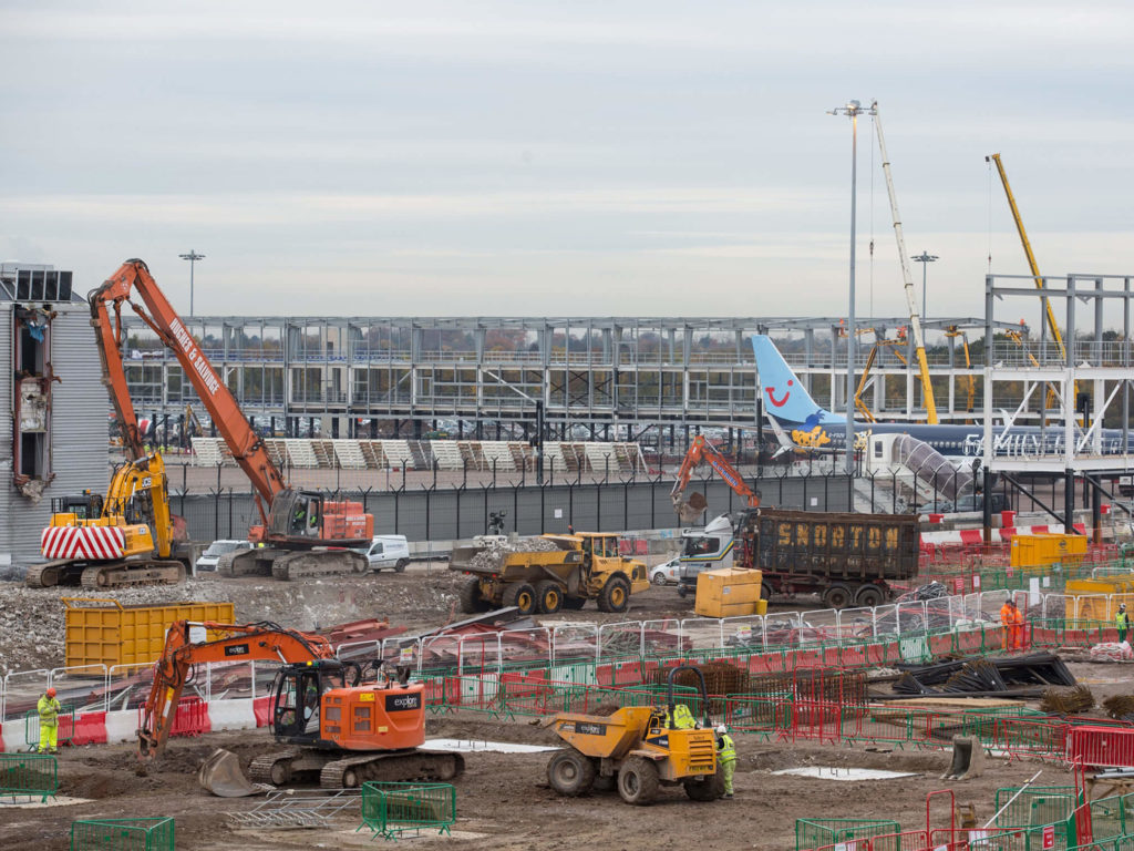 Manchester Airport Demolition